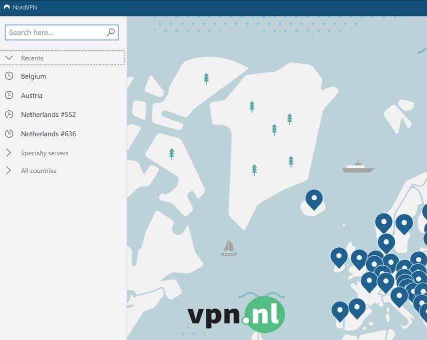 nordvpn-meest-recent-gebruikte-vpn-netwerken